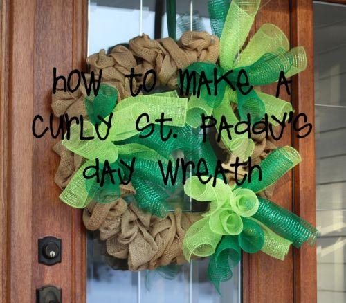 Taking Your Burlap Wreath To The Next Level By Adding Curly Deco
