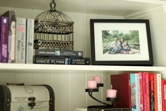 Decorating Living Room Shelves. Decorating Living Room Shelves  Family Pic Styling The Organized Mama