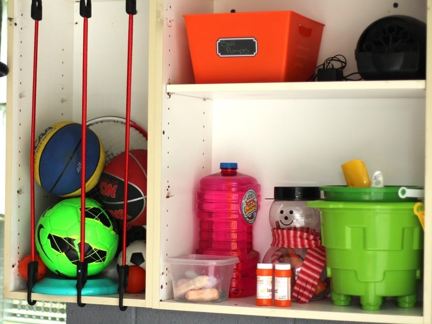 Organizing the Garage - Kids Toys