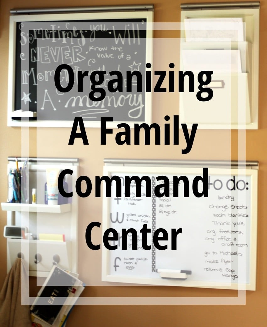 Organizing A Command Center