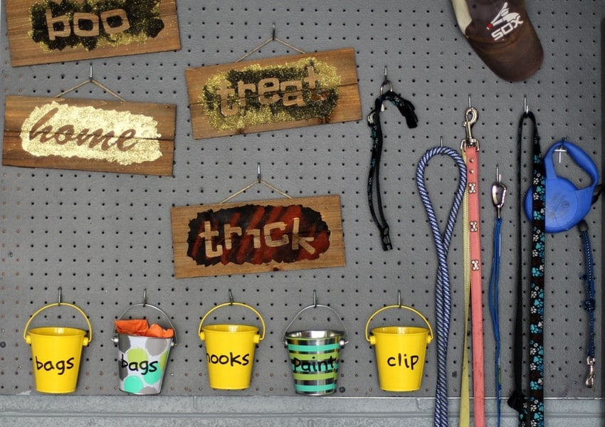 Organizing the Garage - Pegboard Almost Black