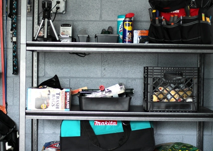 Organizing the Garage - Shelving Unit