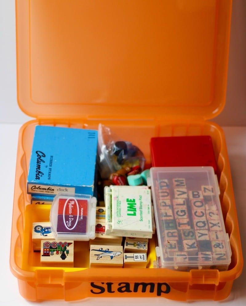 Organizing Kids Crafts - Stamp Storage