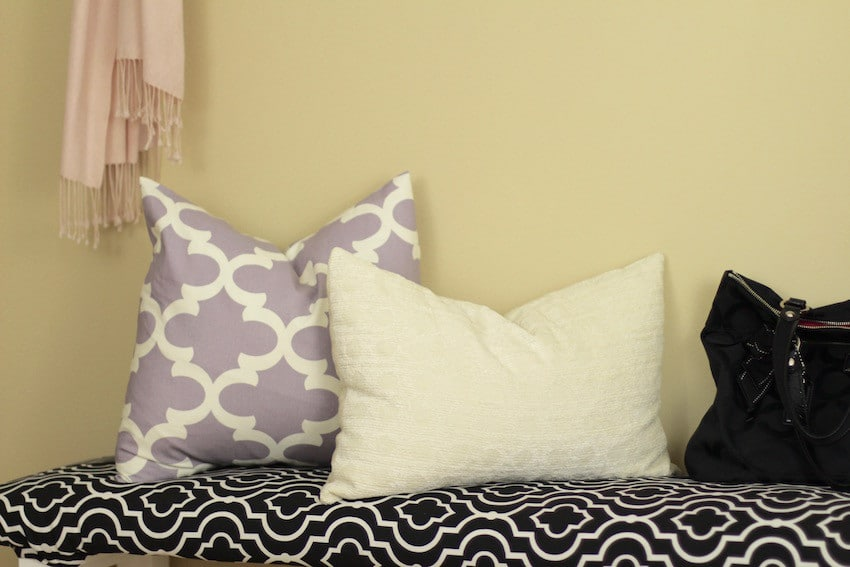 Entryway Home Decorating Ideas The Organized Mama Magnificent How To Decorate A Bench With Pillows