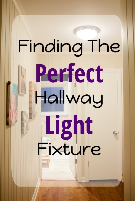 Finding the perfect lights to brighten our hallways the organized mama finding the perfect hallway light fixture sisterspd