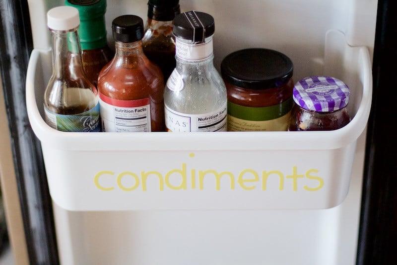Condiments Fridge Door