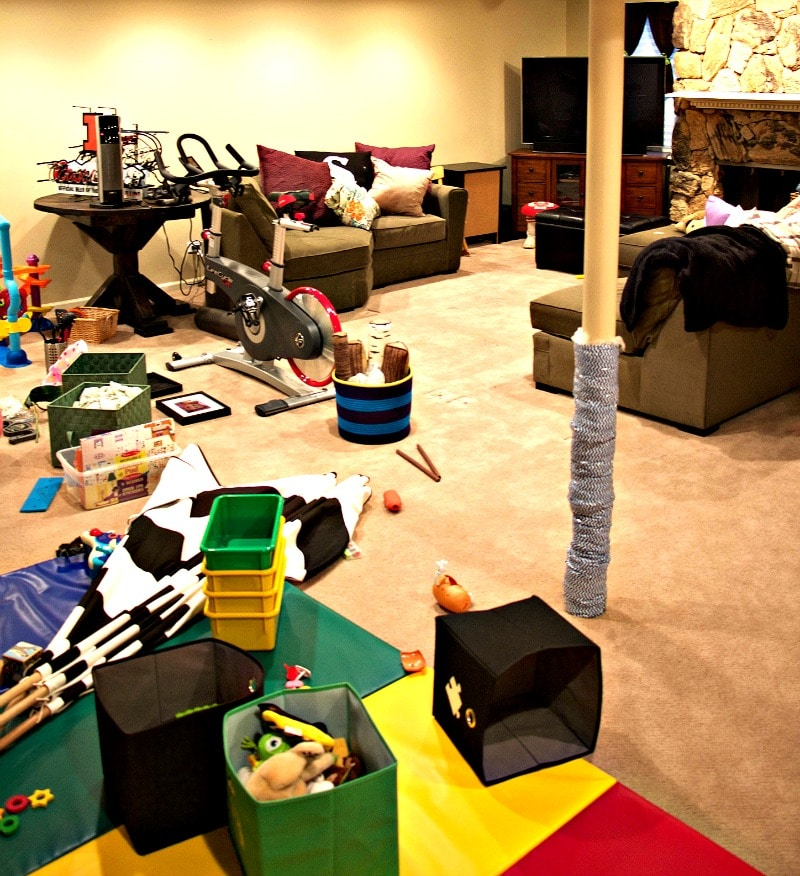 Messy Basement: Clearing Clutter For One Room Challenge