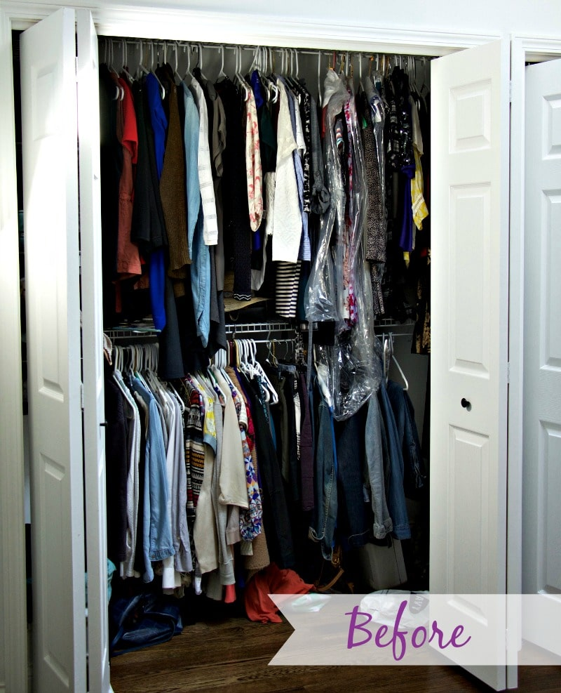 Before Closet Organization