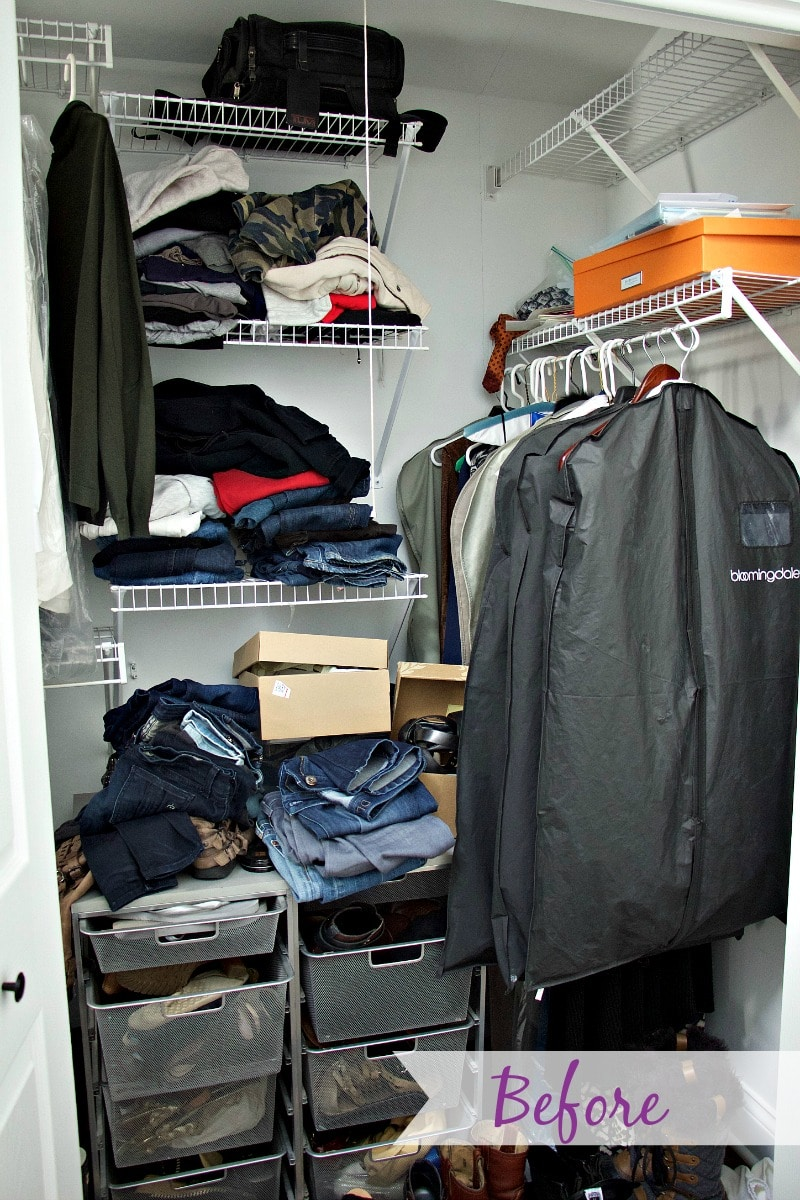 Closet Organization Before 2