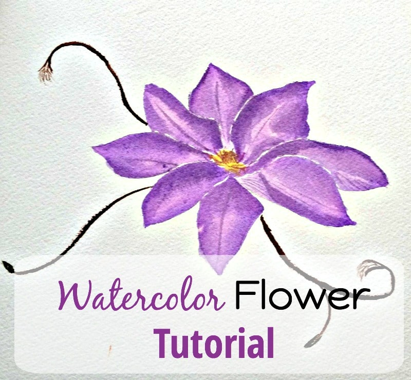 Easy watercolor flower paintings for Easy watercolor tutorial