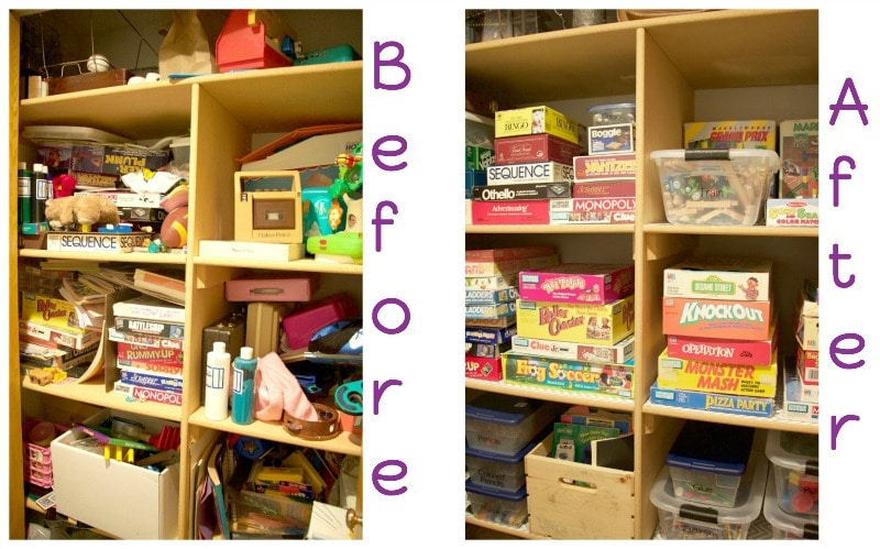 Game Closet Before After