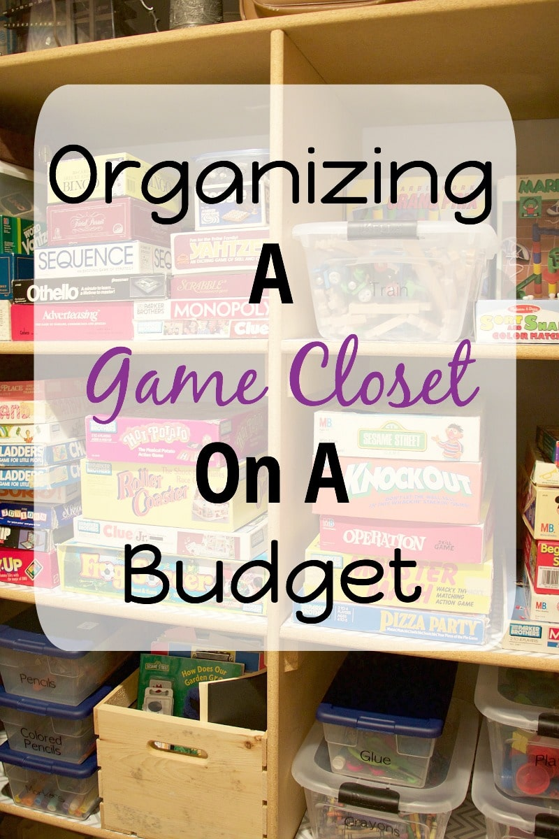 Charmant Organizing A Game Closet On A Budget