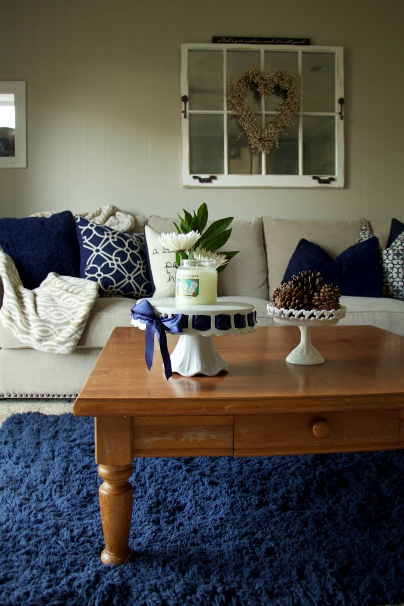 Navy And Neutral Living Room Tour The Organized Mama
