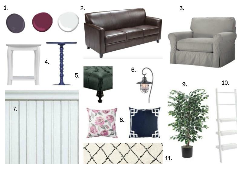 Modern Farmhouse Living Room Inspiration Board