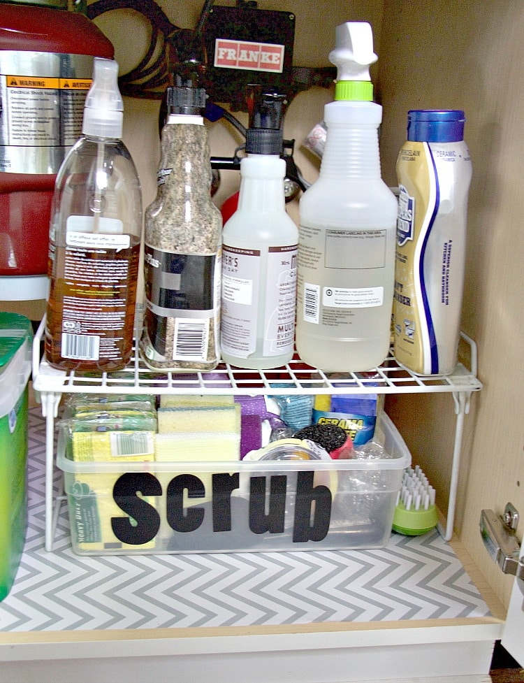 Tidying up under the kitchen sink the organized mama organize under kitchen sink workwithnaturefo