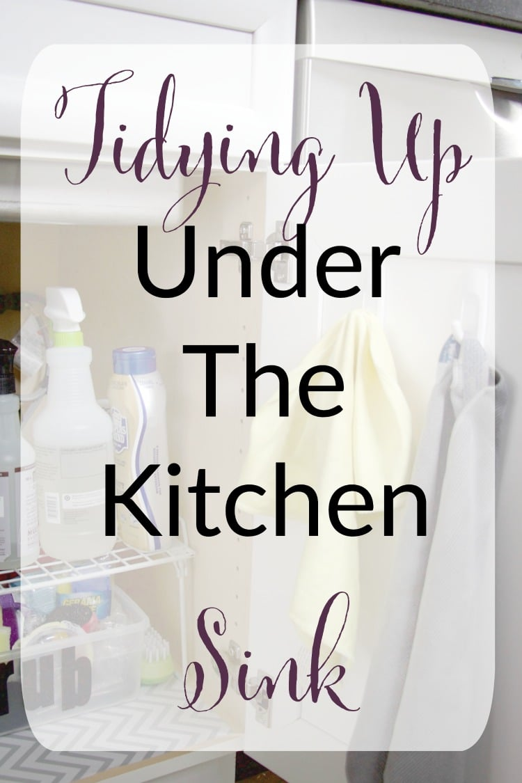 Tidying Up Under The Kitchen Sink - The Organized Mama