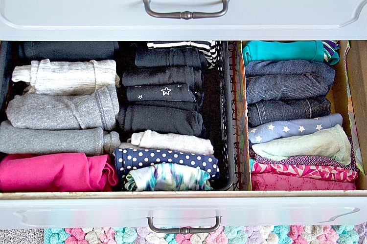How to organize kids 39 dresser drawers like a professional How to store clothes without a dresser