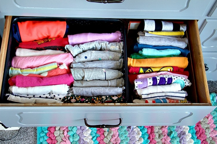 How to organize kids 39 dresser drawers like a professional for T shirt drawer organization