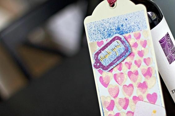 Thoughtful Heart of Gold Wine Bottle Hostess Gift Tag