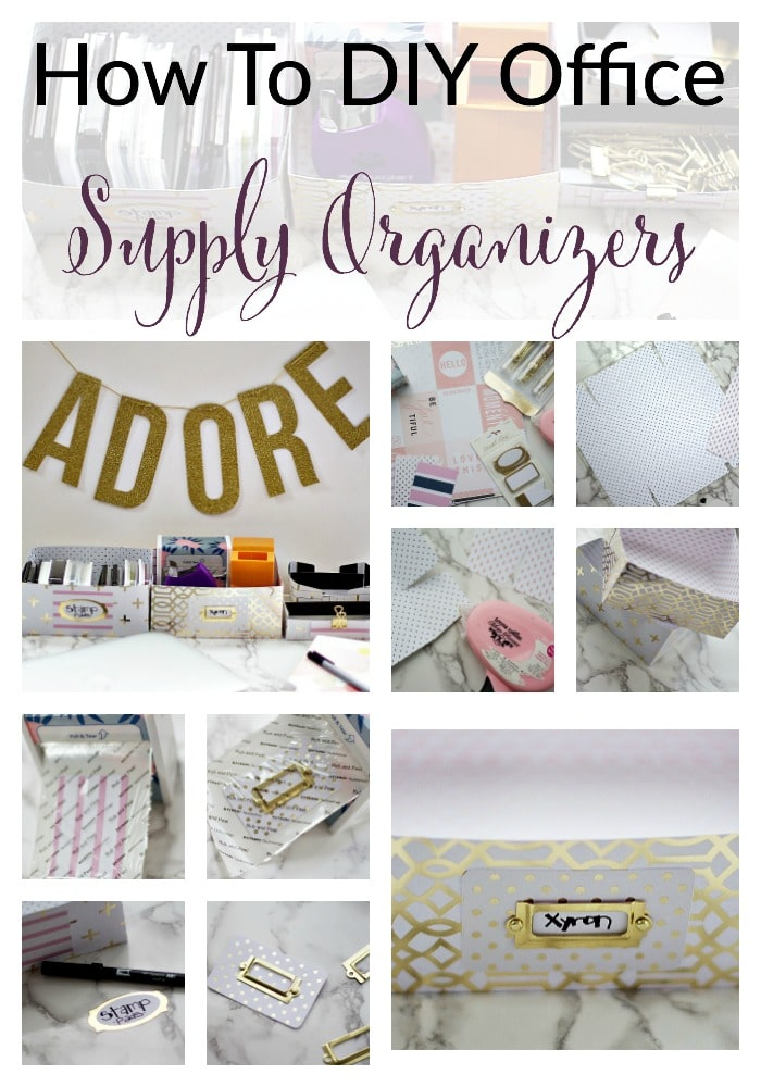 How to diy office supply organizer for your desk the for How to organize your desk diy