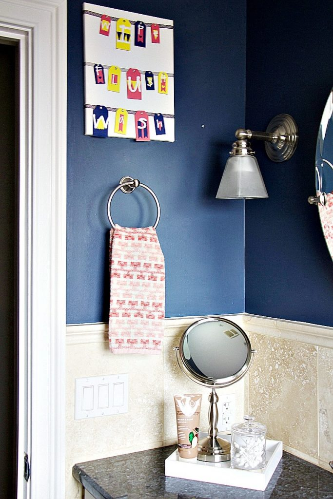 DIY Kids' Bathroom Artwork