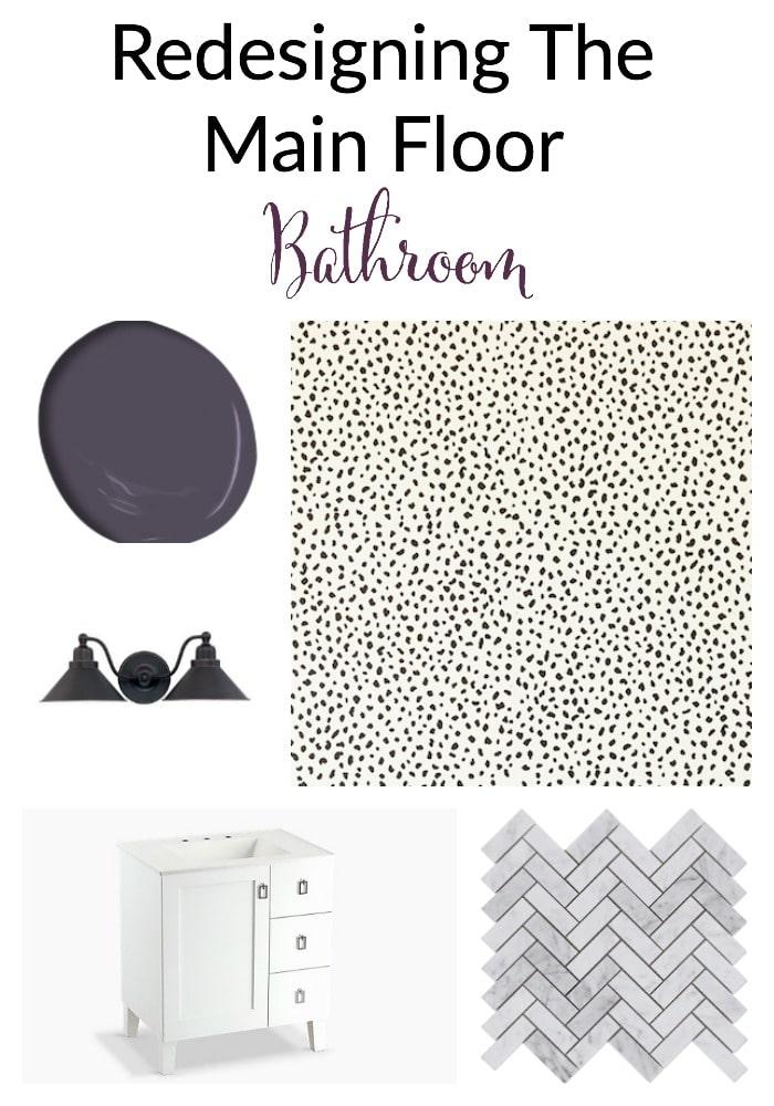 Redesigning Main Floor Bathroom - The Organized Mama