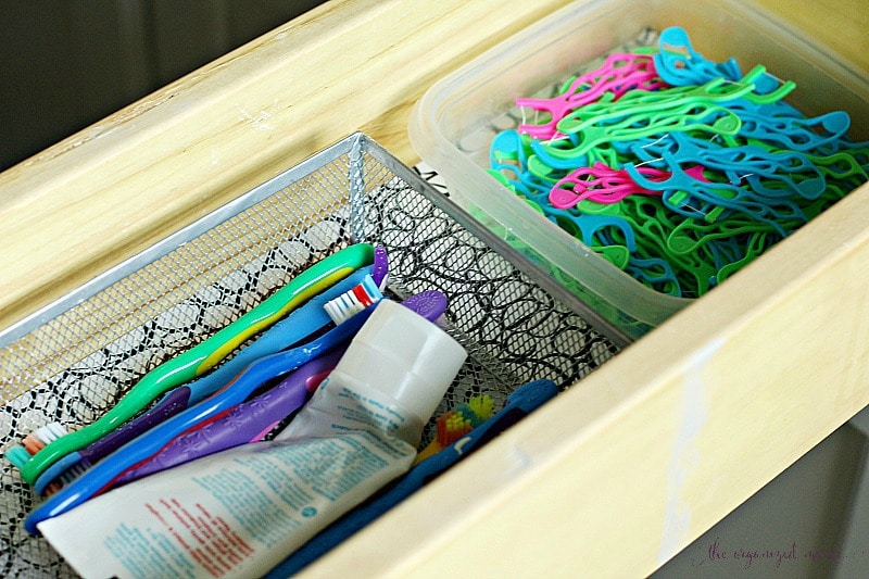 Easy ways to organize bathrooms for kids the organized mama for How to organize bathroom drawers