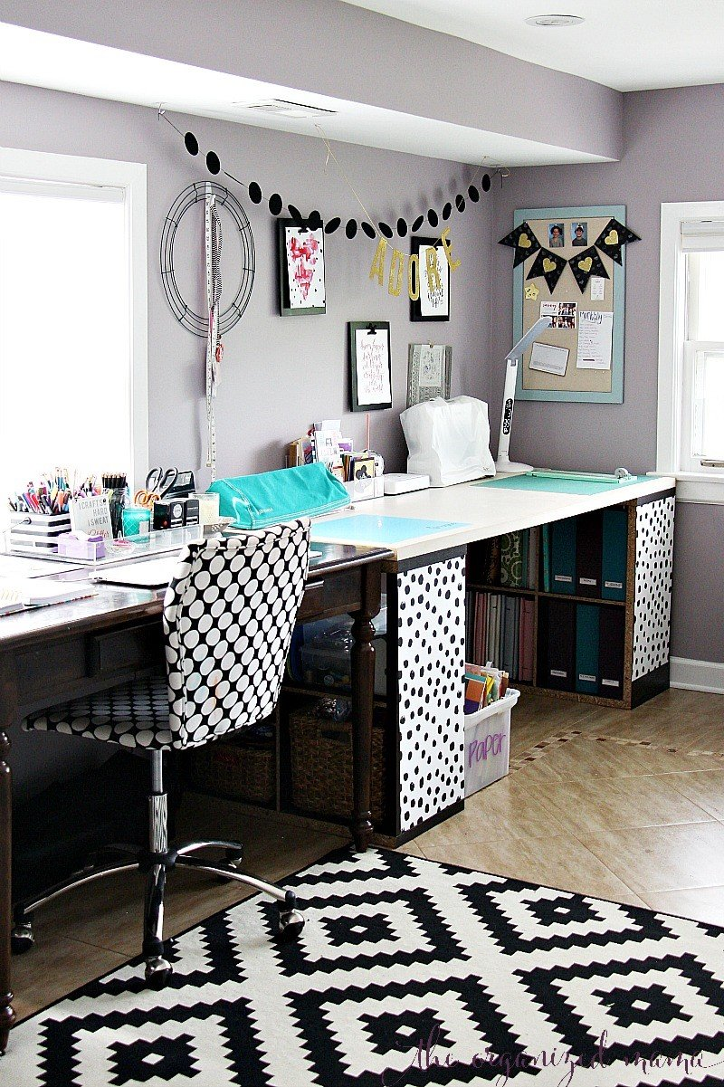 diy work space black and white