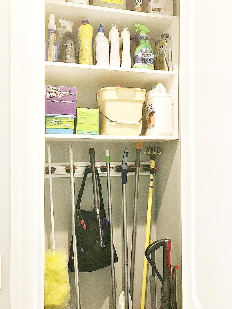 cleaning closet organization