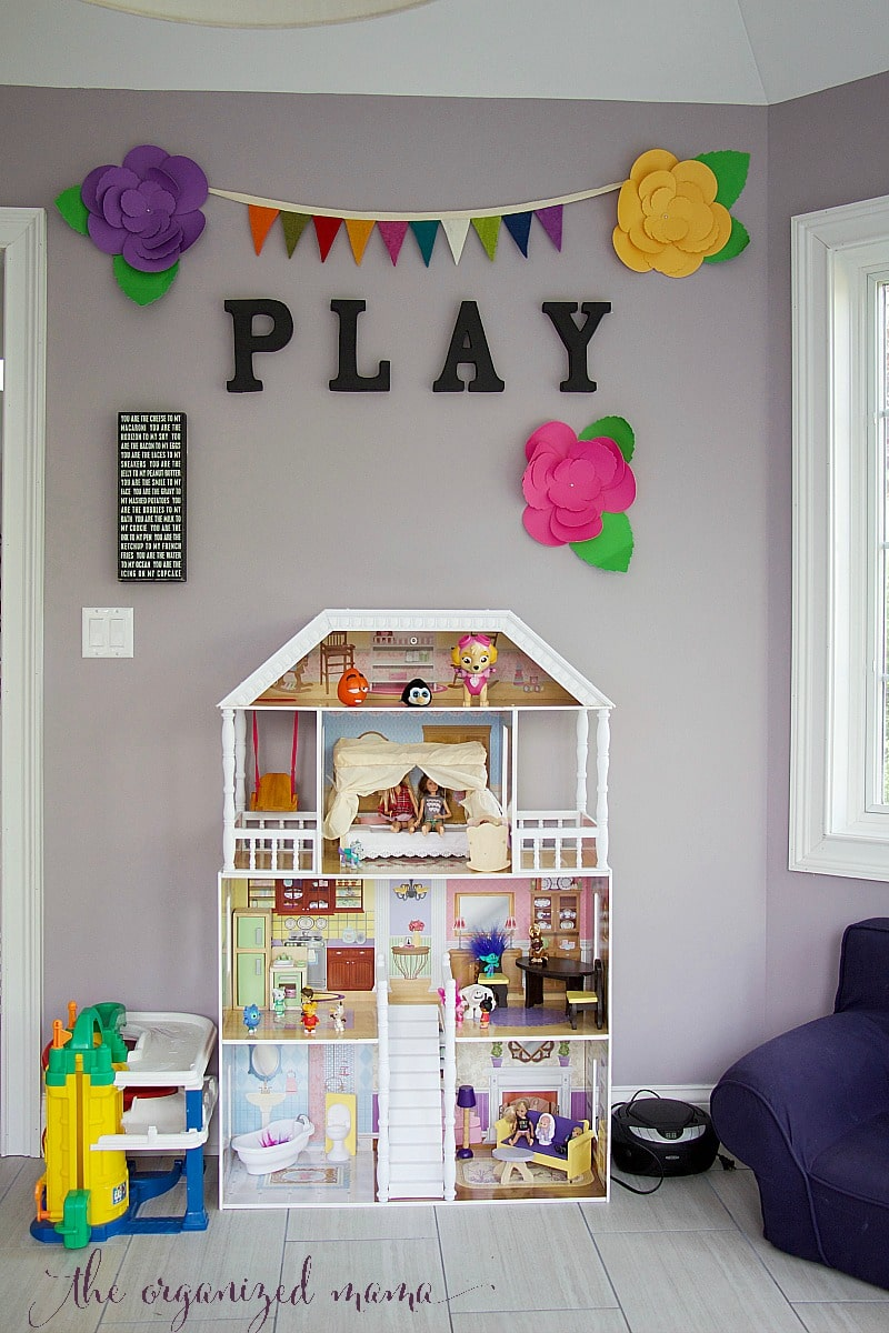 play room decor toy organizer IKEA bench