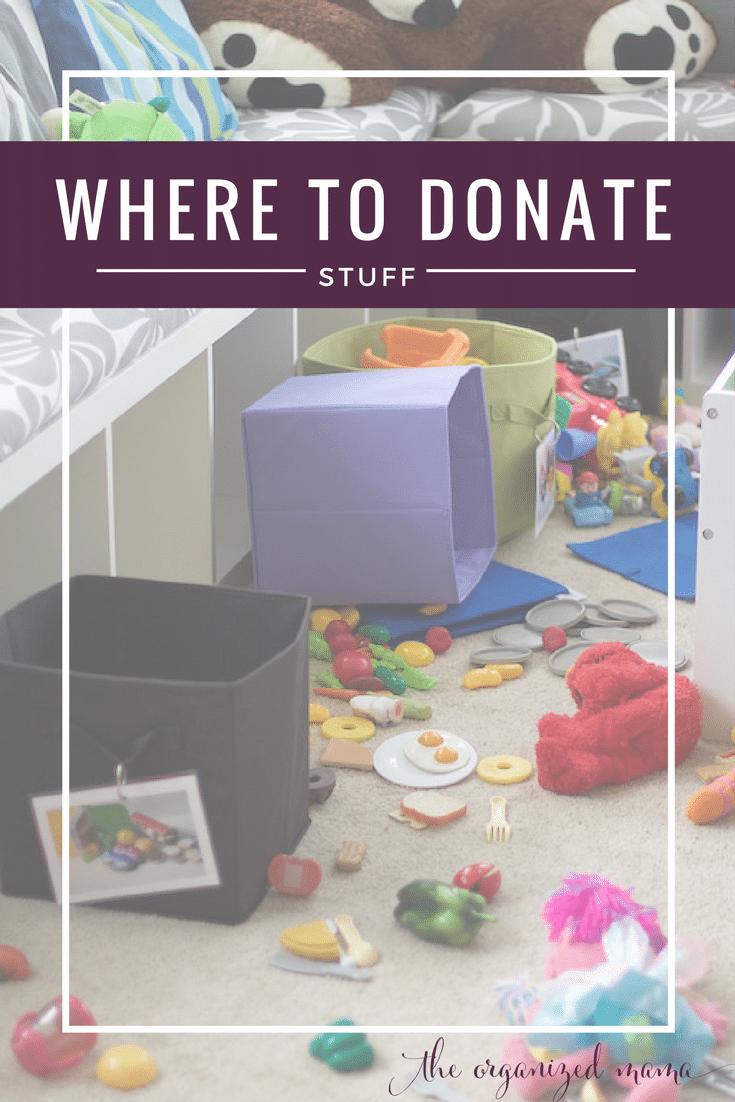 where to donate stuff
