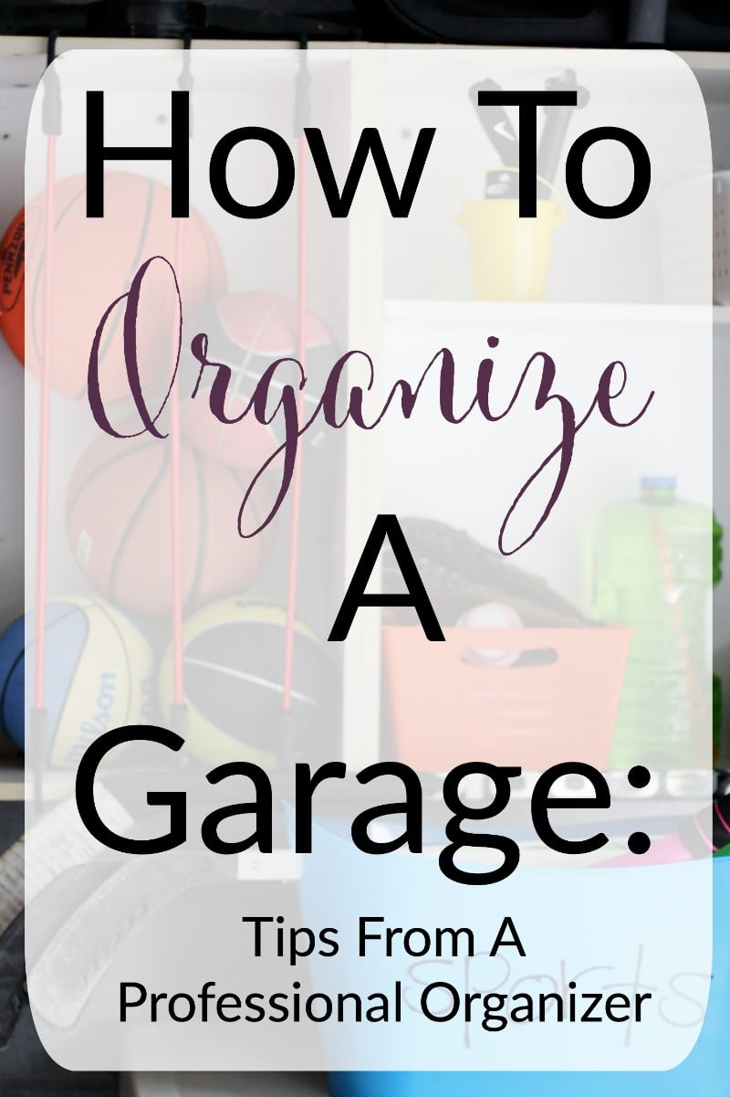 how to organize a garage