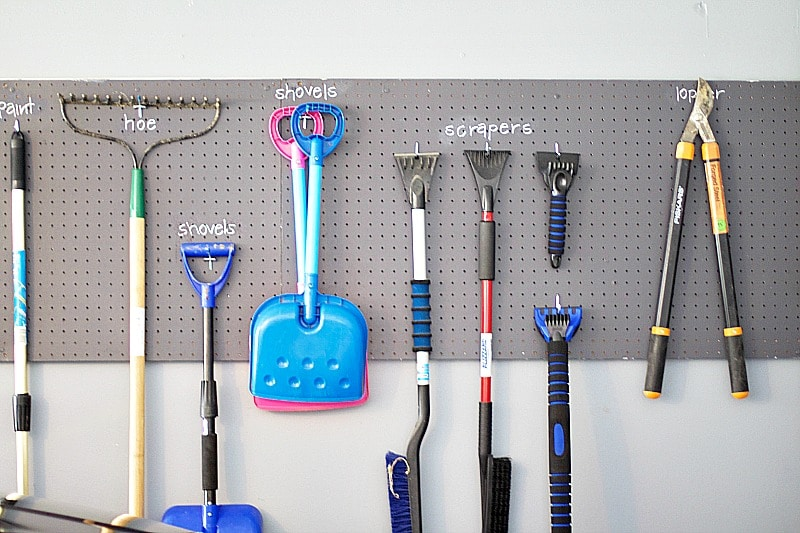 how to organize a garage hooks pegboard