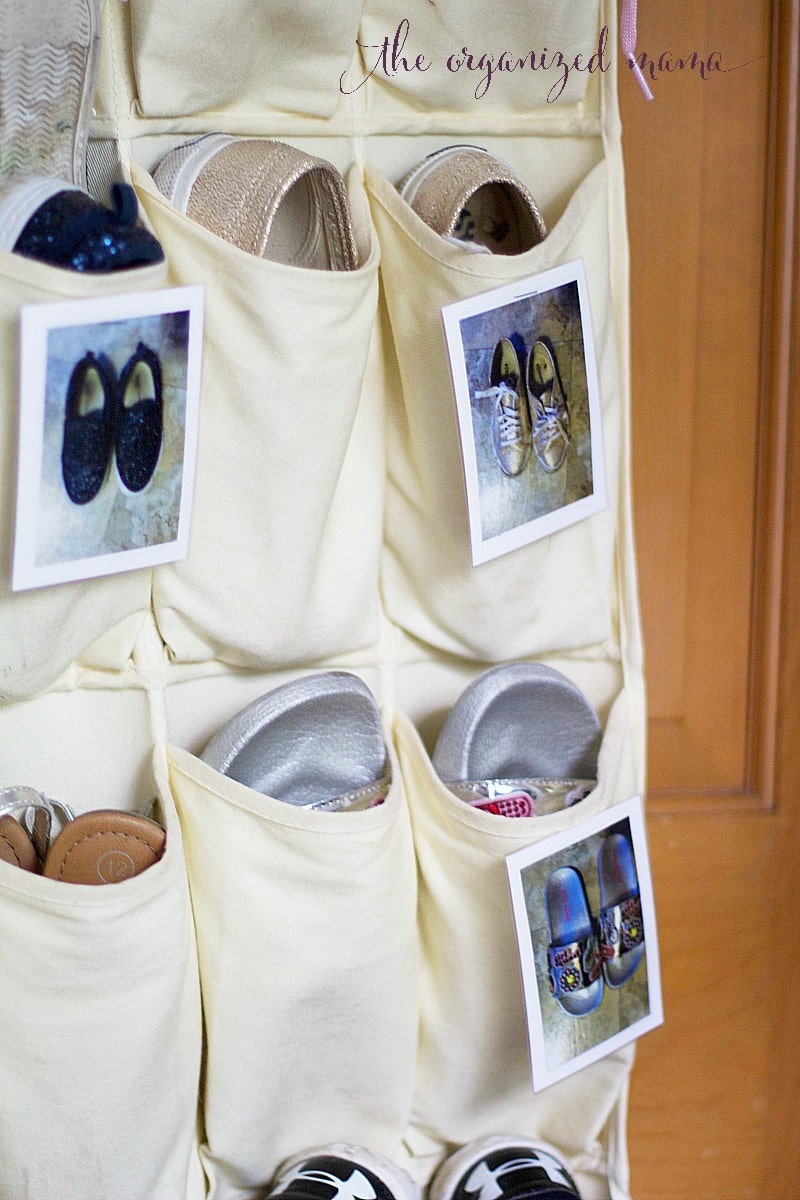 how to organize shoes in a hanging shoe organizer the. Black Bedroom Furniture Sets. Home Design Ideas