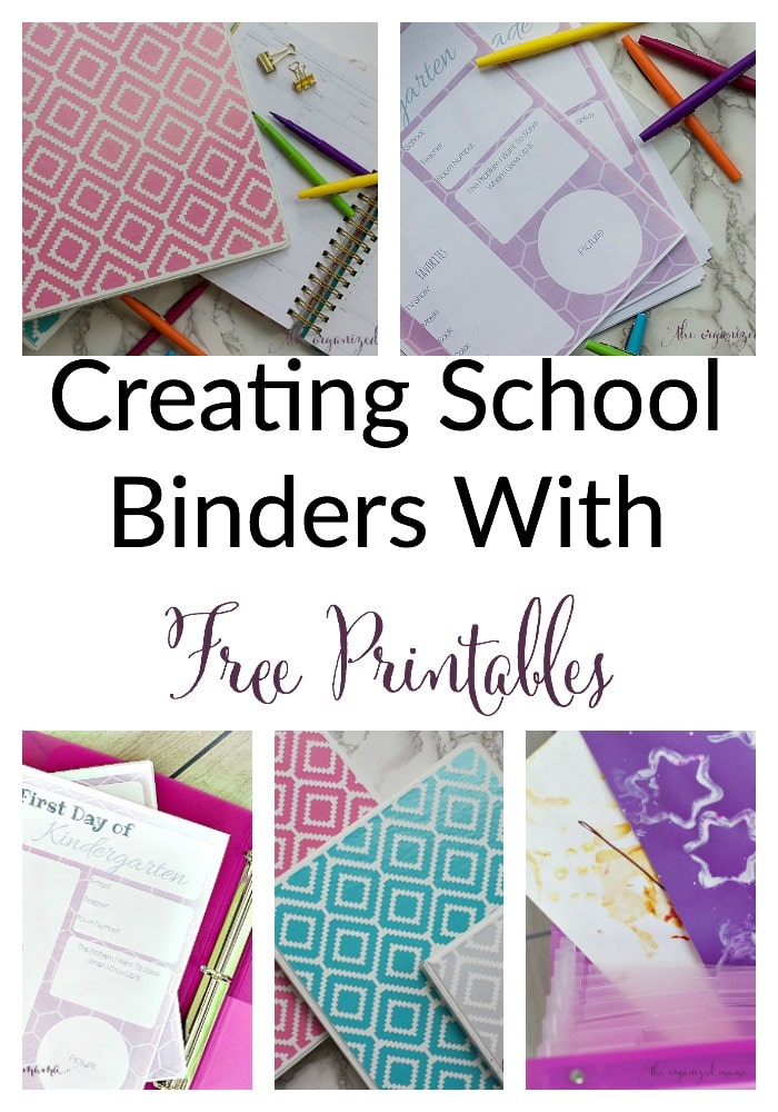 creating a school binder with printables the organized mama