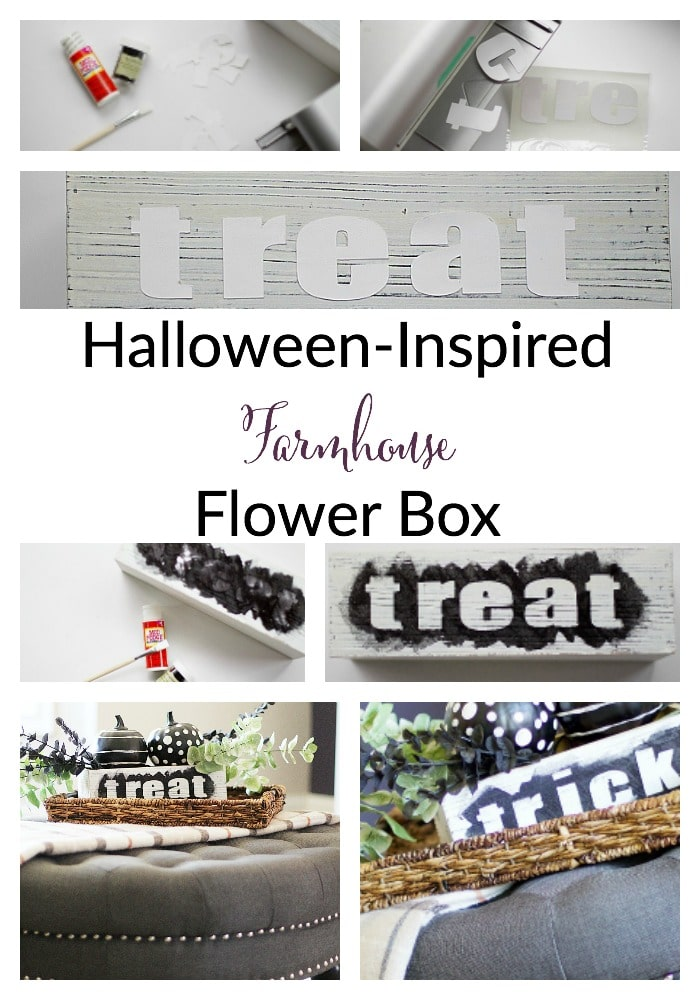 halloween-inspired farmhouse flower box