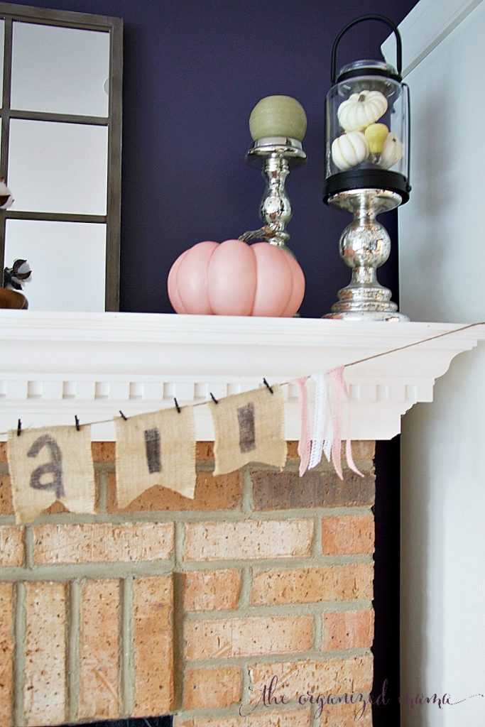 Pastel Fall Mantel Decor Inspiration