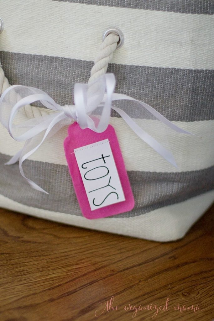 Felt Label Tags For Rope-Handled Bins