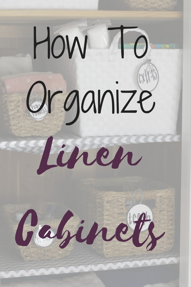How To Organize Linen Cabinets The Organized Mama