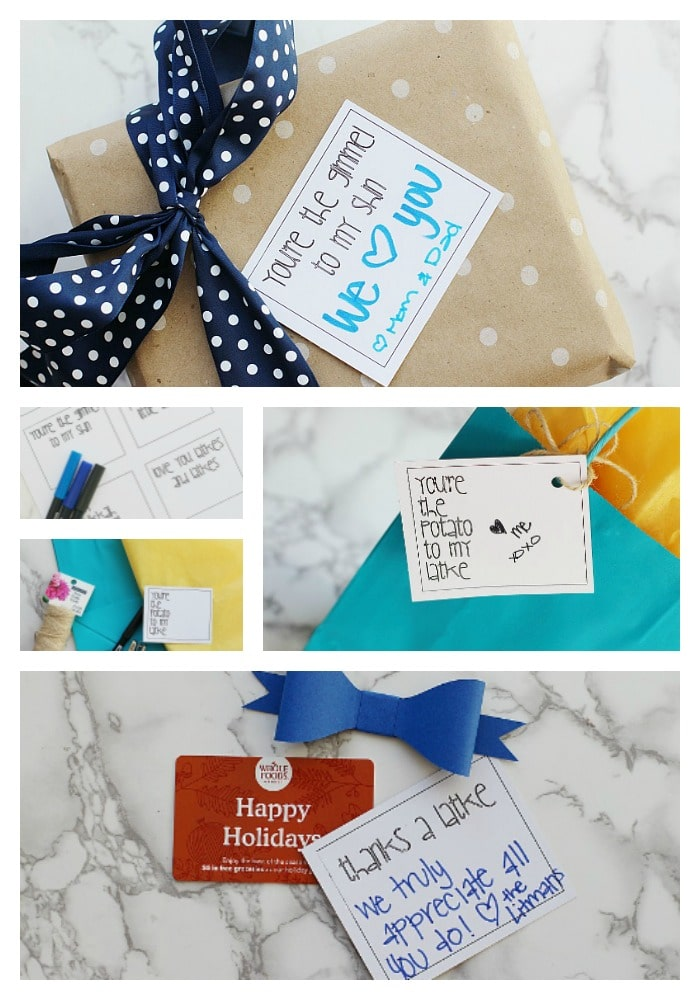 photograph regarding Free Printable Hanukkah Cards known as Totally free Printable Hanukkah Present Tags - The Prepared Mama
