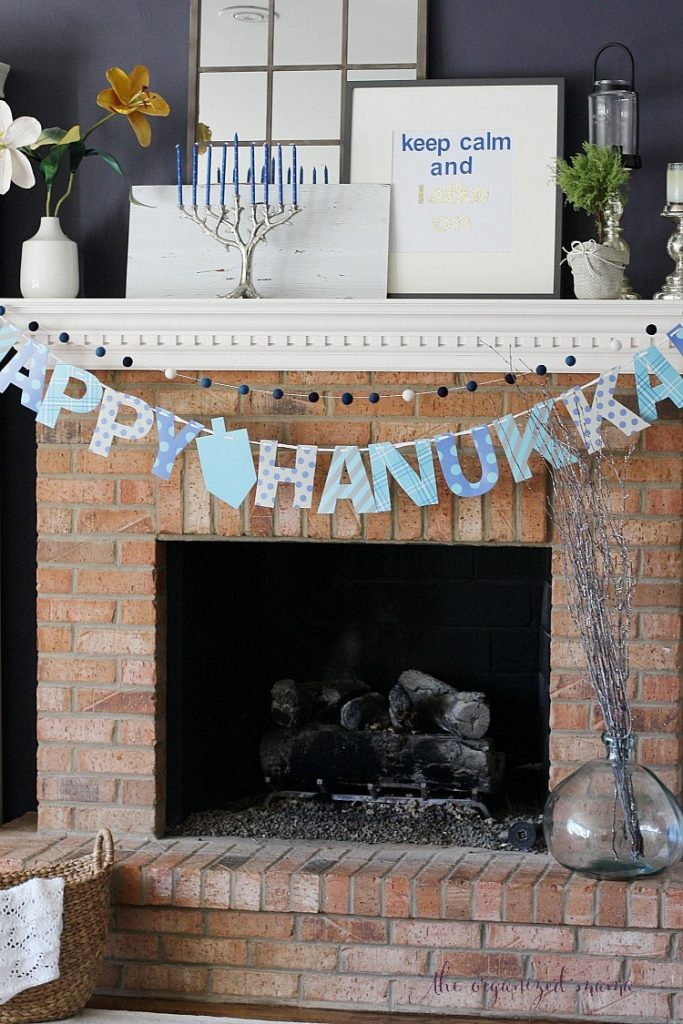 Diy Hanukkah Decorations From Dollar Store The Organized
