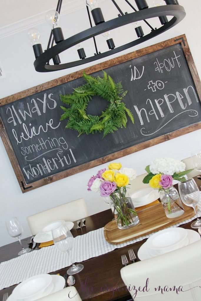 How To Make A Super Simple Extra Large Chalkboard